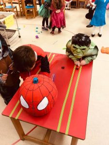 halloween camp mullingar kids in super hero costumes