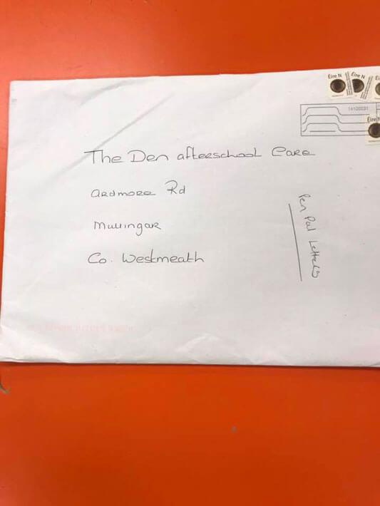 envelope containing pen pal letters