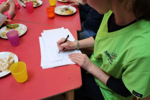 student food diary being updated by mullingar montessori teacher