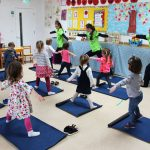 kids doing yoga poses at mullingar montessori
