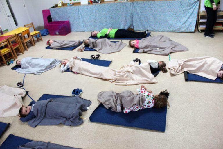 kids taking a nap at montessori
