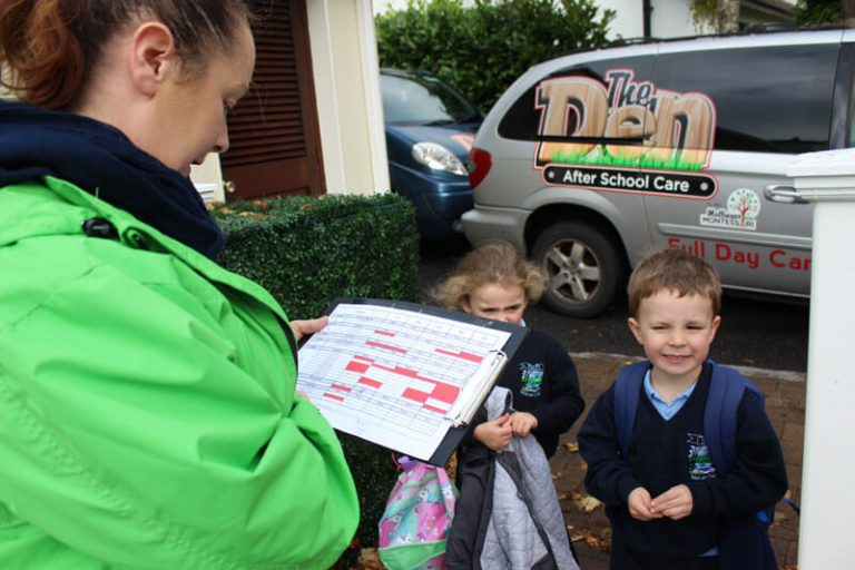 kids checking into after school care then den mullingar