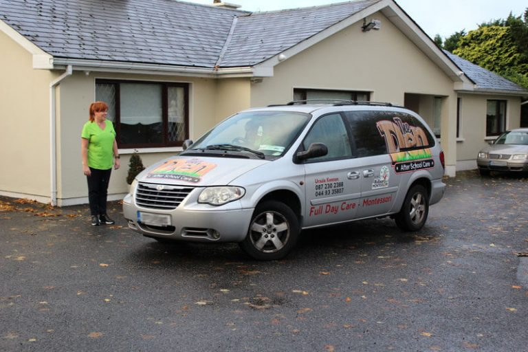 mullingar montessori and the den after school care school run collection and school drop off school taxi