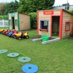 montessori mullingar garden play area with shop and post office