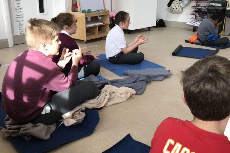 kids doing mindukfness at the den mullingar