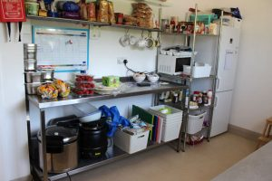 Mullingar Montessori Kitchen area shelves and fridge